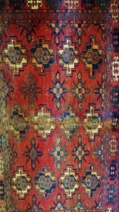 Tekke Turkomen rug, detail. Private collection.