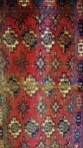Tekke Turkomen rug, detail. Private collection.