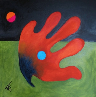 composition 48 Red Hand